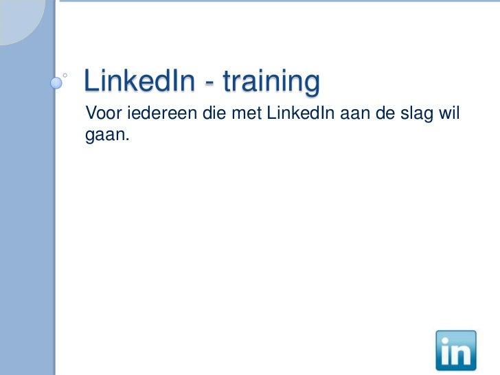 LinkedIn voor starters