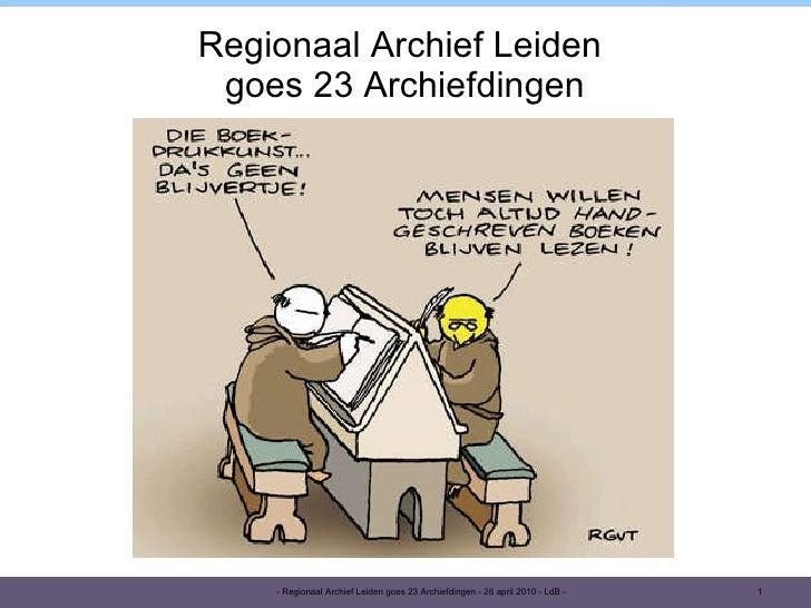 Presentatie 23 ad-ral-20100426