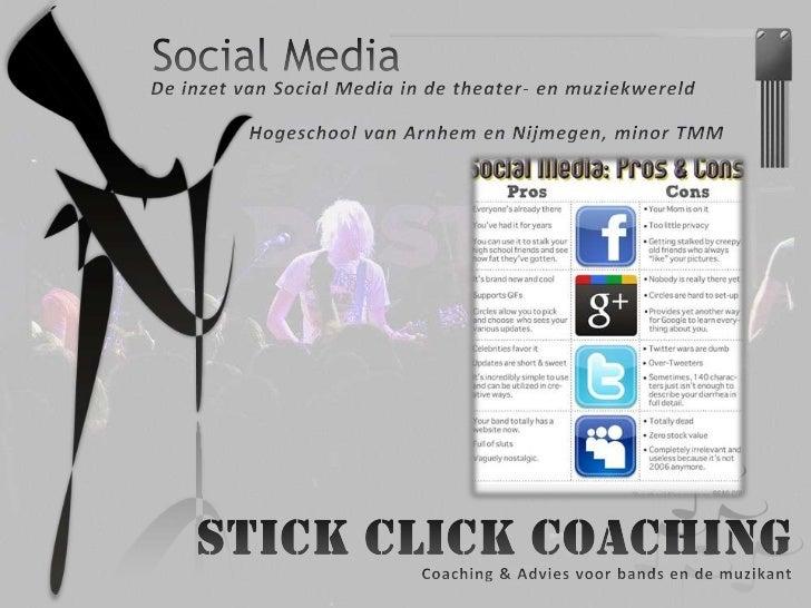 Presentatie Social Media Han Minor TMM 2011