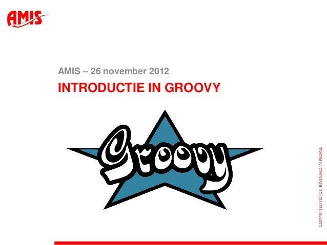 Presentatie - Introductie in Groovy
