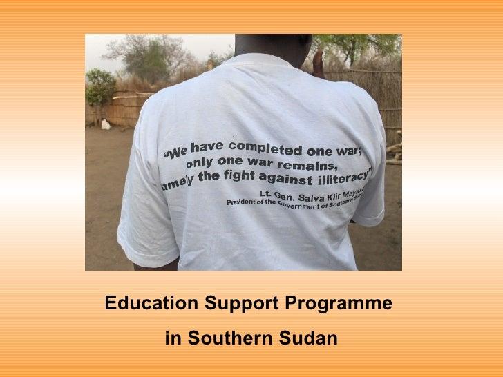 Presentatie Onderwijsprogramma in Soedan