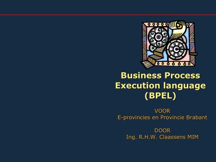 Presentatie over BPEL