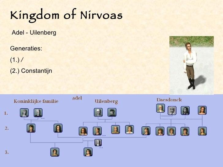 Kingdom of Nirvoas Generaties:  (1.)  / (2.) Constantijn Adel - Uilenberg