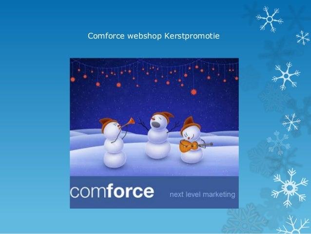 Comforce webshop Kerstpromotie