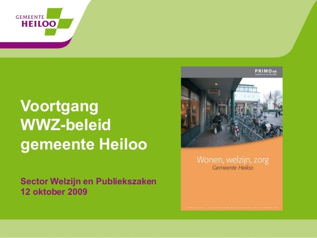 WWZ beleid gemeente Heiloo oktober 2009