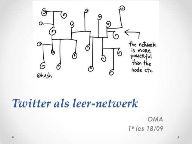 Presentatie 1e les twitter