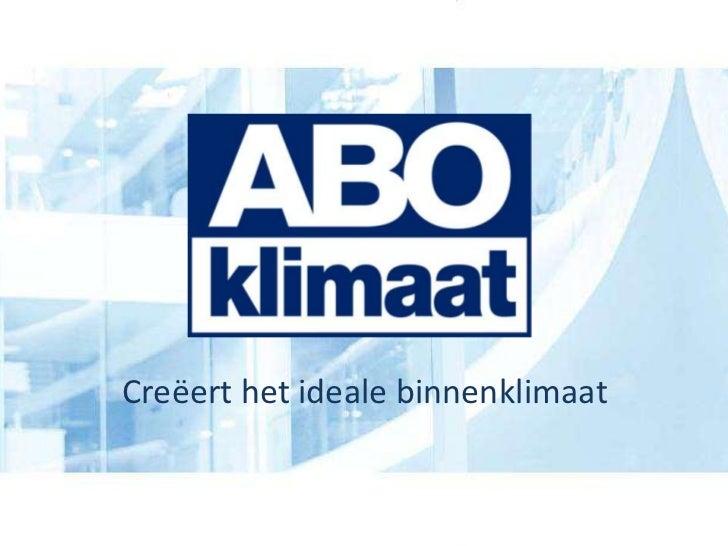 Bedrijfspresentatie abo klimaat