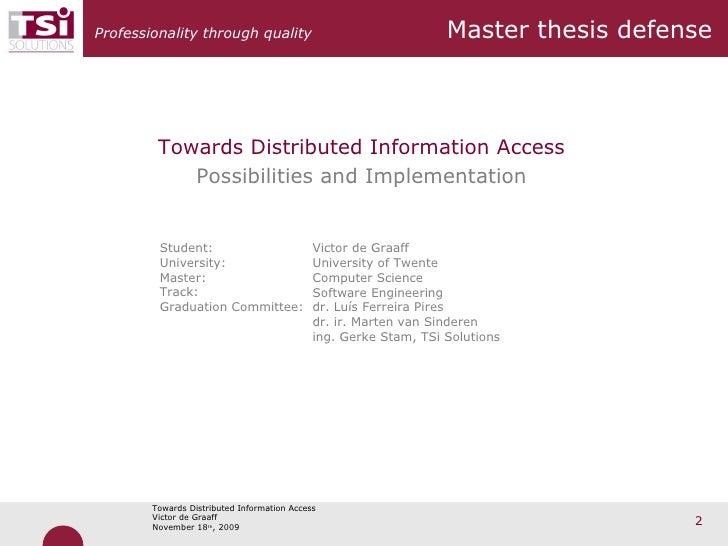 Fail master thesis defense