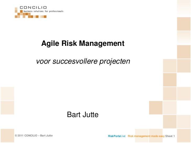 Presentatie Agile Risk Management