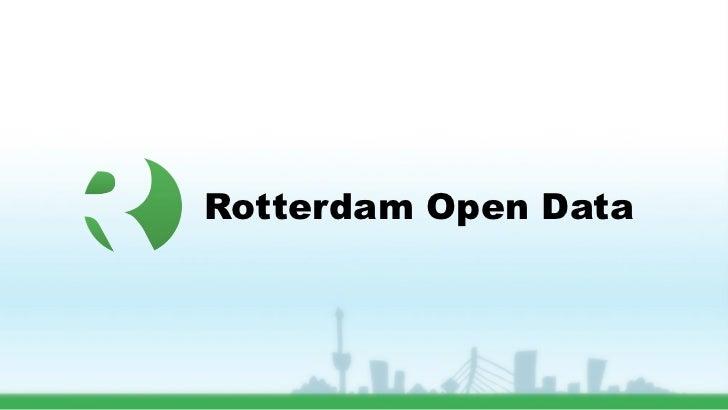 Rotterdam Open Data