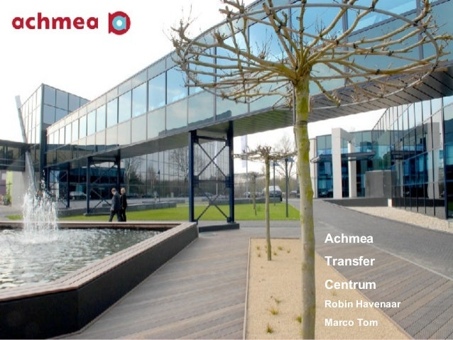 Achmea    Transfer    Centrum    Robin Havenaar    Marco Tom1