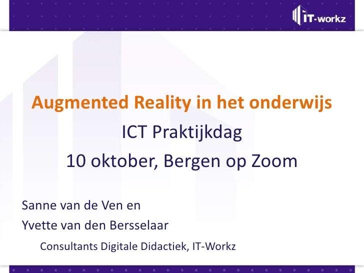 Presentatie Augmented Reality tijdens ictdag.nl