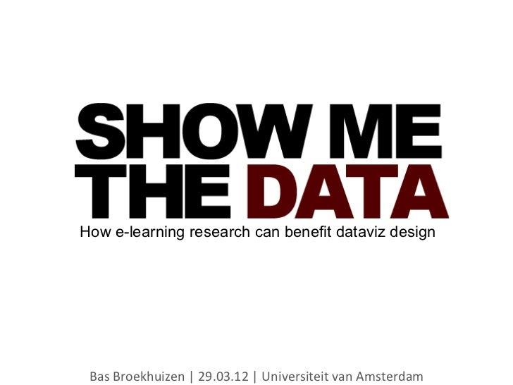 Show me the data: How e-learning research can benefit dataviz design