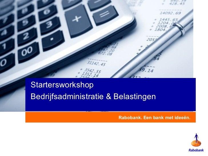 Presentatie bedrijfsadministratie & belastingen
