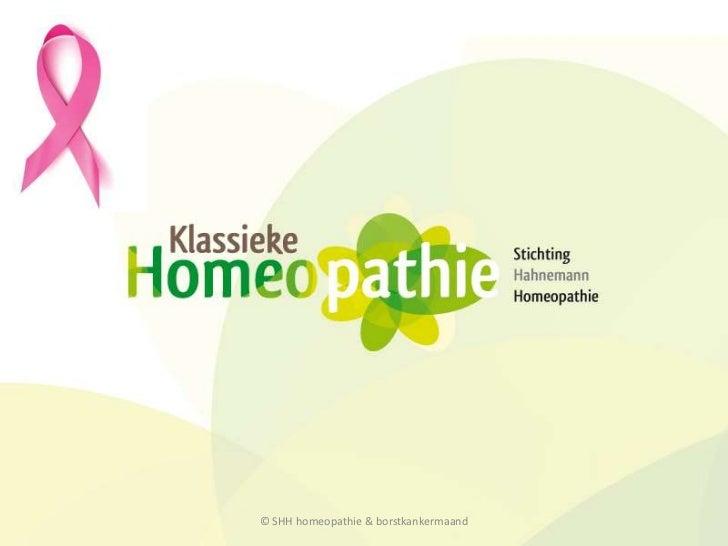 © SHH homeopathie & borstkankermaand