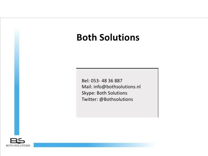 Presentatie both solutions 29 mei 2012 - meer leads met LinkedIn