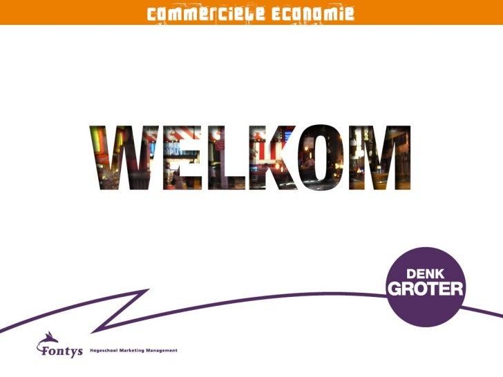 Fontys Presentatie Commerciële Economie, Open Dag maart 2011