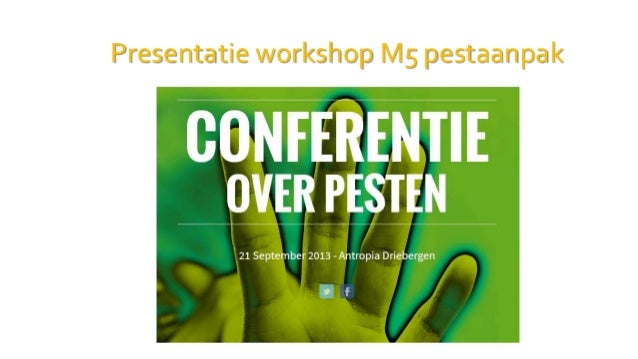 Presentatie conferentie over pesten