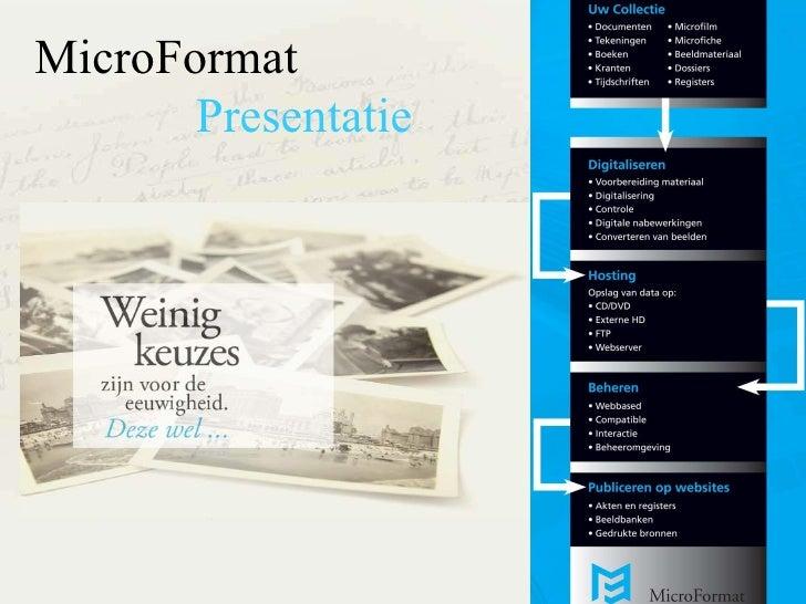 MicroFormat Presentatie