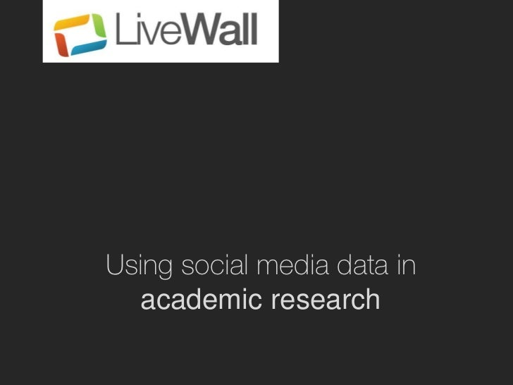 Using social media data in  academic research