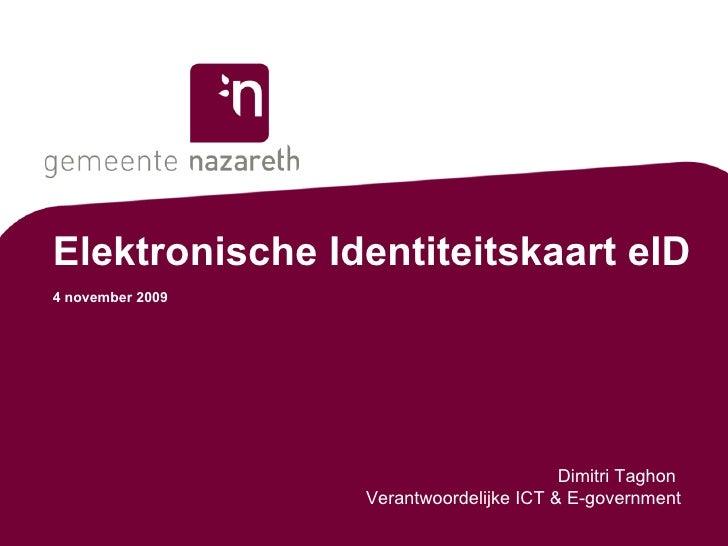 Elektronische Identiteitskaart eID