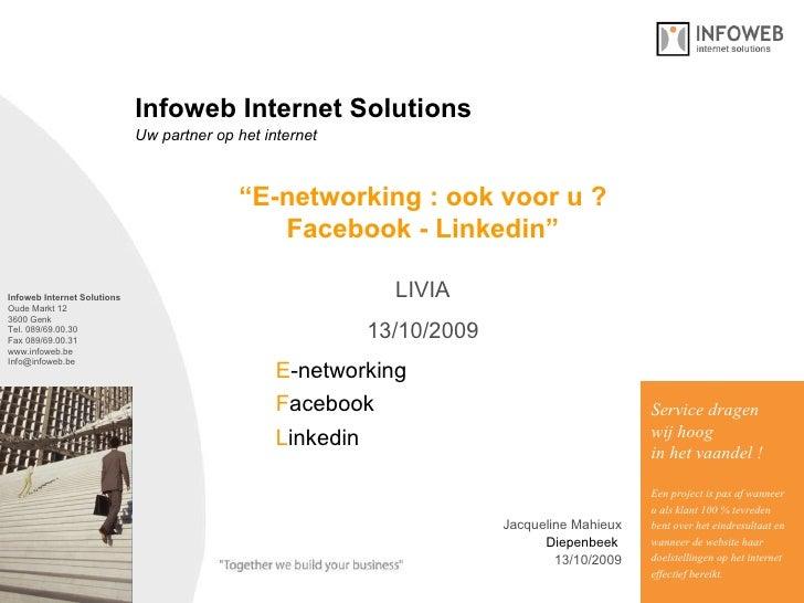 Presentatie Sociaal Netwerk