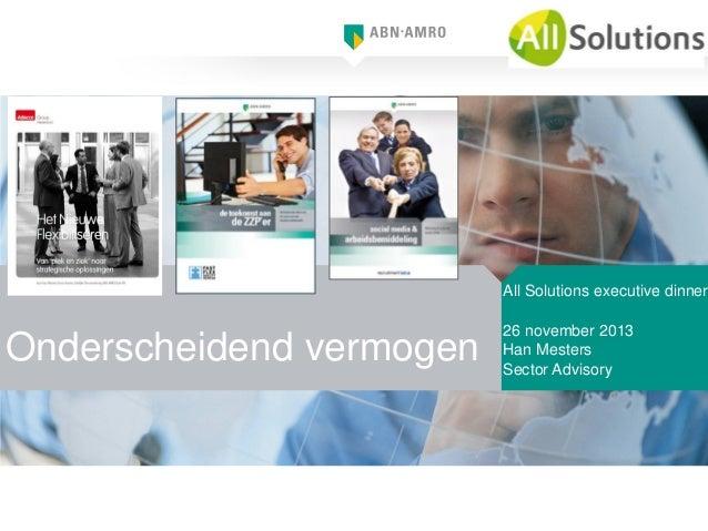 Presentatie Han Mesters van ABN AMRO