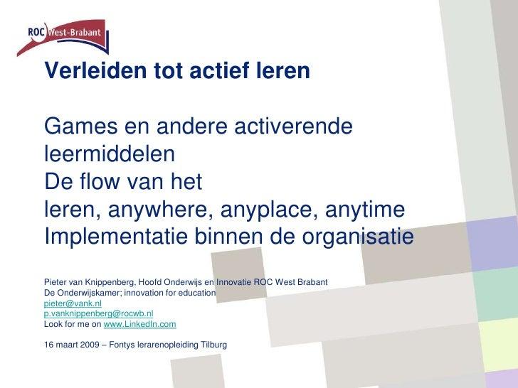 Presentatie Fontys Tilburg 16 3 2009