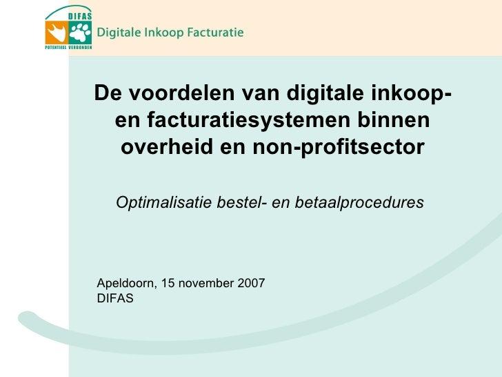 De voordelen van digitale inkoop- en facturatiesystemen binnen overheid en non-profitsector  Optimalisatie bestel- en beta...