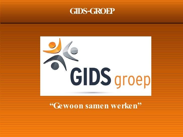 Presentatie Gids Groep