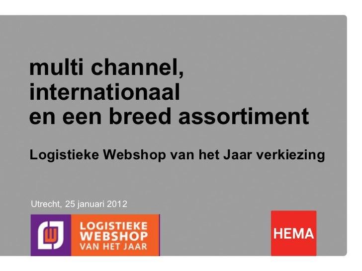 Presentatie Hema - Logistieke Webshop van het Jaar