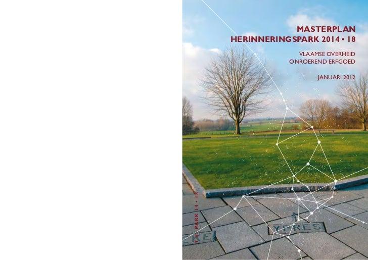 Masterplan Herinneringspark 2014-18 (Jeroen Geurst)