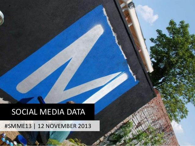 SOCIAL MEDIA DATA #SMME13 | 12 NOVEMBER 2013