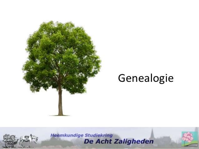 Presentatie Introductieavond Genealogie 23 10-2012