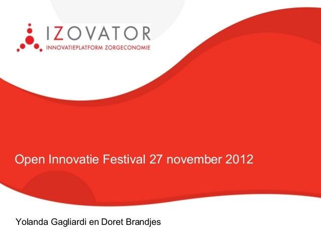 Presentatie innovatiefestival