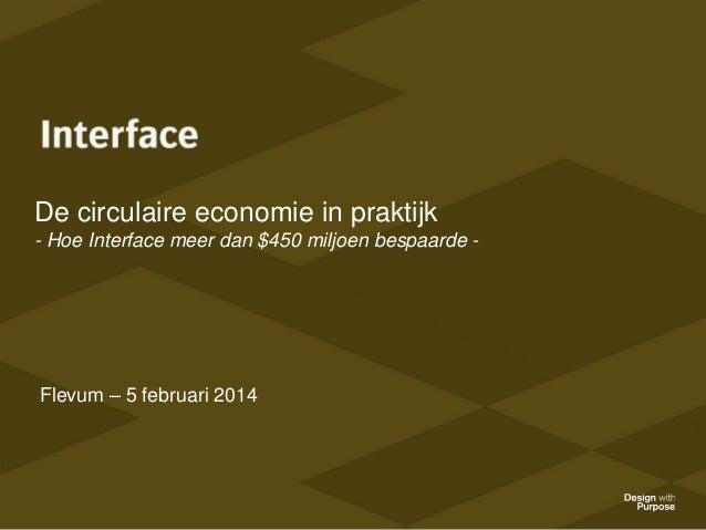 De circulaire economie in praktijk - Hoe Interface meer dan $450 miljoen bespaarde -  Flevum – 5 februari 2014