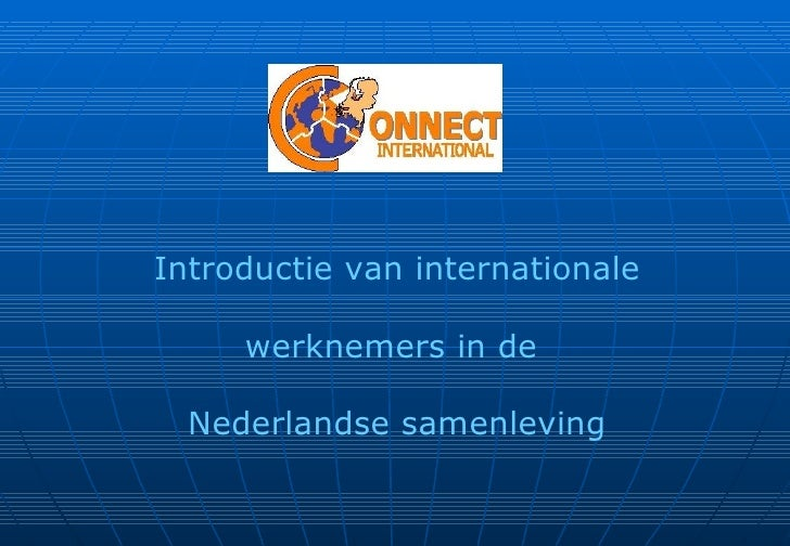 Presentatie introductie van connect international