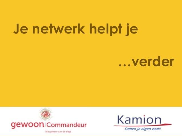 Je netwerk helpt je …verder