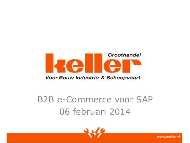 B2B e-Commerce voor SAP 06 februari 2014