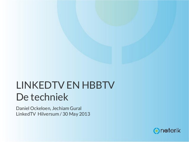 LinkedTV at HBBTV