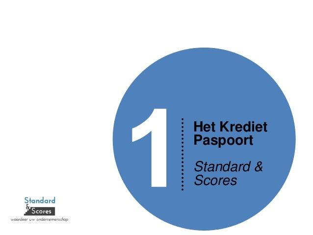 Het Krediet Paspoort Standard & Scores