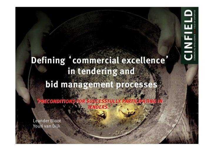 Presentatie KSF naar Commercial Excellence, VCV 19 januari 2012