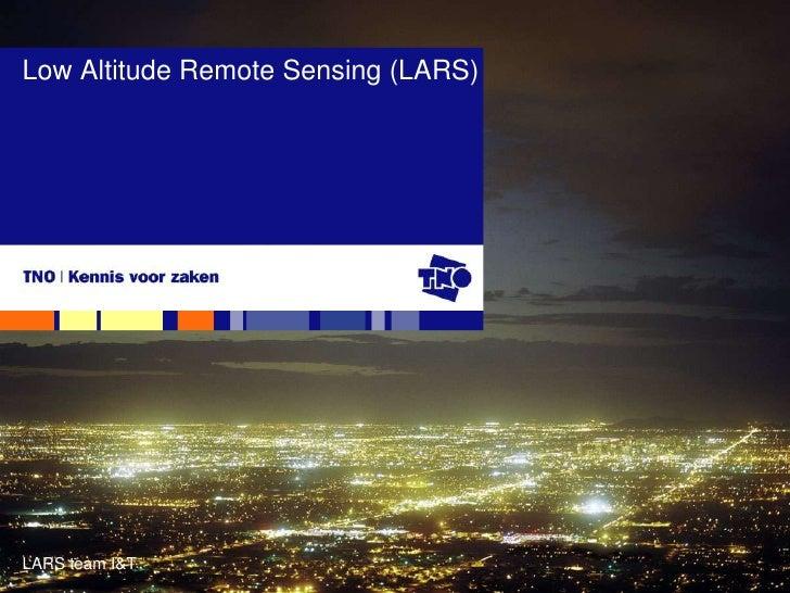 Presentatie Low Altitude Remote Sensing