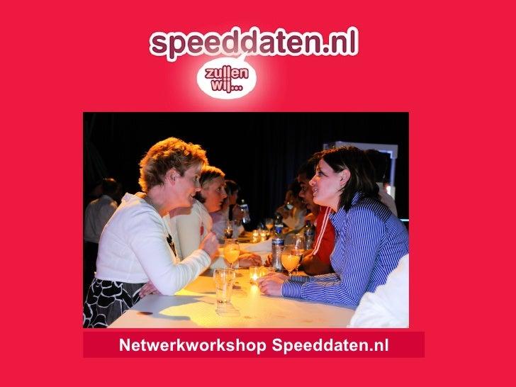 Netwerkworkshop Speeddaten.nl