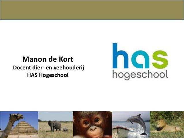 Manon de KortDocent dier- en veehouderijHAS Hogeschool
