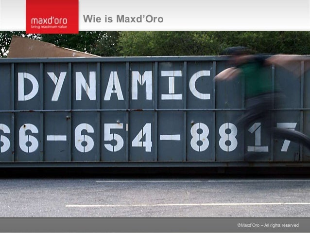 ©Maxd'Oro – All rights reserved Wie is Maxd'Oro