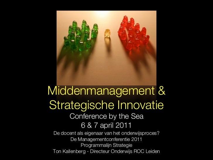 Presentatie middenmanagement & strategische innovatie
