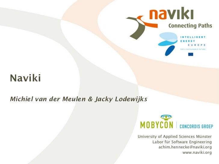 NavikiMichiel van der Meulen & Jacky Lodewijks                                     University of Applied Sciences Münster ...
