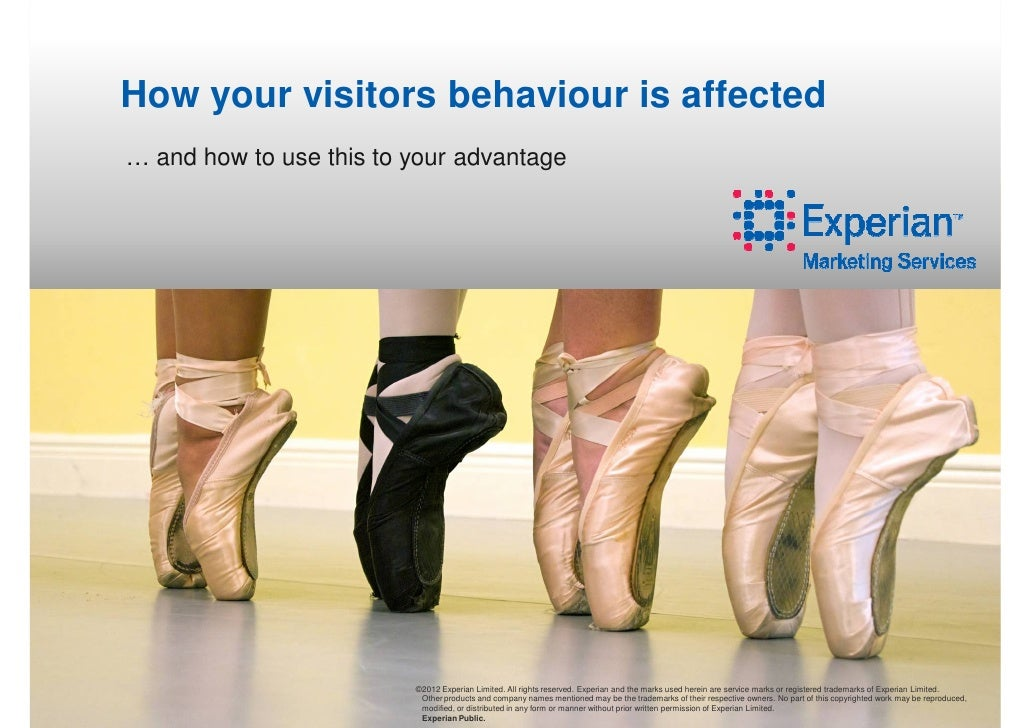 How your visitors behaviour is affected… and how to use this to your advantage                         ©2012 Experian Limi...