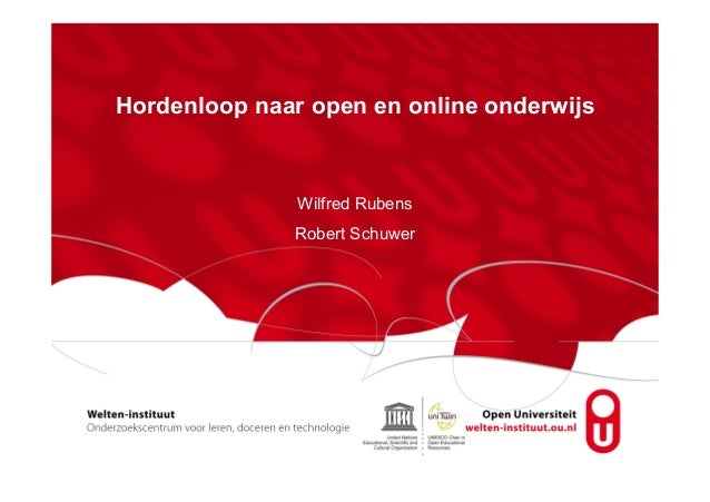 Presentatie Open Education bij de OU
